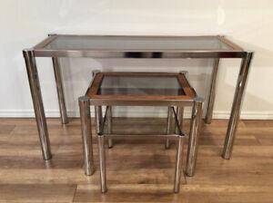 Vintage Living Room Set-Ensamble Tables de Salon Retro