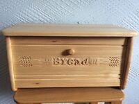 Solid pine bread bin for sale