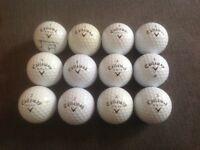 12 CALLAWAY GOLF BALLS, TOUR IS, HX TOUR, TOUR IZ