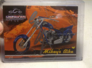 Card Autograph Signed Mikey's Bike