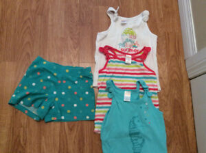 Girls Tanks and Shorts 5t