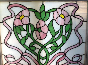 Handcrafted stained glass window
