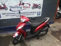 HONDA VISION 110 RED 2012 1 YEAR MOT LOW MILEAGE