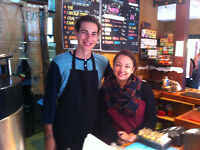 10-15 hours at cute cafe by Gatineau Park