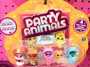 party animals figurines toy/ figurines d'oursons avec costumes