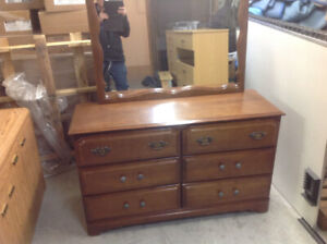 DRESSER WITH MATCHING MIRROR