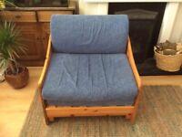 Pine sofa bed.