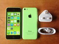 IPHONE 5C 32GB GREEN UNLOCKED IT WILL TAKE ANY NETWORK SIM