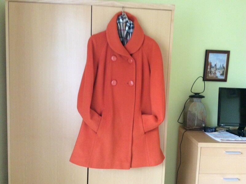 Ladies bright orange Ragland style coat (12)
