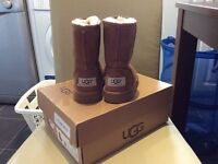 Girls Chestnut UGG boots, with box, Genuine and classic
