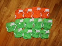 13x Omaiki cloth diapers / couches lavables