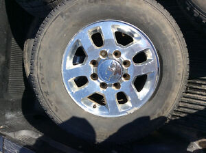 Tires and factory alloy rims GM 3/4 ton