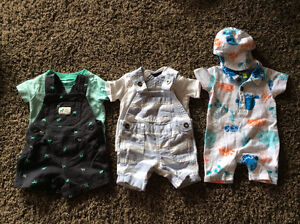 Baby Boy Dungarees Outfit (0-3months) / Salopette pour garcon