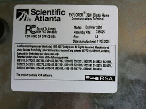 scientific atlanta, explorer 3200
