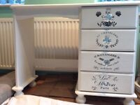 Annie Sloan original white dressing table/dressing table