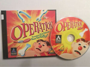 Operation cd-rom game-1998/Hasbro-very good + Monopoly cd-rom