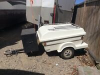Fiberglass Enclosed Utility/Motorcycle Trailer-small