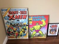 3 marvel pictures and marvel lava lamp