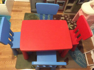 IKEA Mammut table and 4 chairs