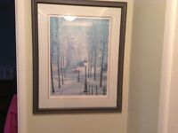 Two framed signed prints by Chun - moving sale - Cobourg