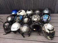 Helmets for sale 15 pound each all sizes from s/m/l/xl