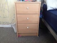 Bedside cabinet / table. Only 4 months old. Excellent condition