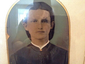 Early 1800's Oil on Sheet of Copper Portrait of a Young Man St. John's Newfoundland image 6
