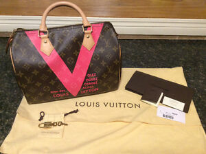 Authentic Louis Vuitton Limited Edition Speedy 30 Pink V EUC