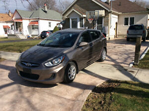 2013 Hyundai Accent hatchback.