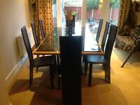 Marble dining table - practically brand new - 8 seater quick sale for £750