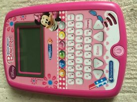 Minnie Mouse educational learning tablet pad toy VGC.