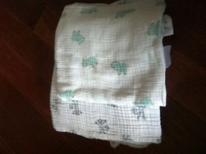 Aiden and Anais muslin swaddle blankets