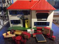 1970's Vintage Retro Triang Dolls House with furniture