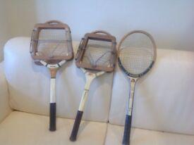 3 Vintage Tennis racquets