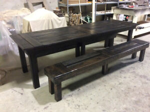RECLAIMED WOOD DINING TABLES AND BENCHES