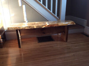 Handcrafted Solid Maple Bench