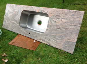 "6 ft L GRANITE COUNTER TOP +under mount sink 30""Lx7""Wx9""D"