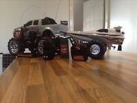 Rc monster truck and boat