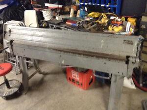 Sheet metal brake and lockformer