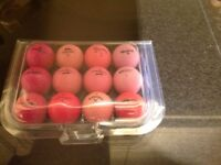Mixed Brand Mixed Model Ladies Golf Balls x 50. Pearl Condition
