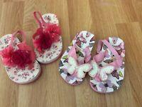 Beautiful Next girls Flipflops /sandals LIKE BRAND NEW size 4