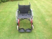 Invacare self propelled folding wheelchair