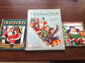 THREE VINTAGE CHILDREN'S CHRISTMAS CLASSIC BOOKS (1940's-50's)