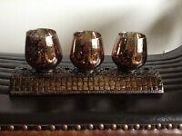 BNIB beautiful decorative wrought iron base candle holder