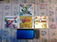 Blue 3DS XL with 10 Games