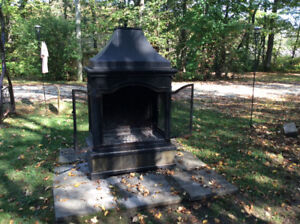 Outdoor fireplace from Costco
