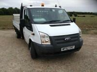 FORD TRANSIT 2.2TDCi DROPSIDE LWB TAIL LIFT £8990-NO VAT!!! 420CM BED