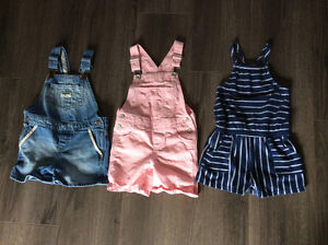 Overalls and romper 2t