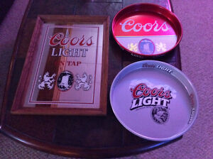 Man Cave    Beer Tray Silver Coors light London Ontario image 1
