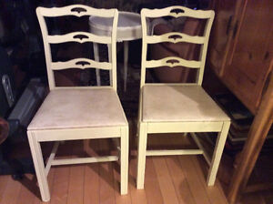 Antique 1940's ribbon back dining chairs Kitchener / Waterloo Kitchener Area image 2